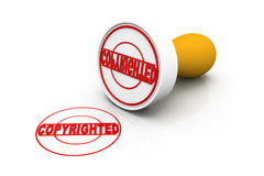 Seal of   copyright stamp Stock Photography