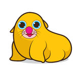 Seal cute cartoon Royalty Free Stock Images