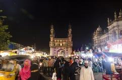 Señal de Hyderabad Charminar Foto de archivo libre de regalías