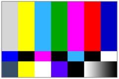 Señal de las barras coloreadas de la televisión Fotos de archivo libres de regalías