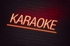 Señal de neón del Karaoke Imágenes de archivo libres de regalías