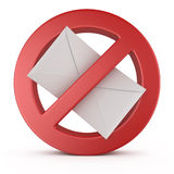 Señal de peligro del Spam Fotos de archivo libres de regalías