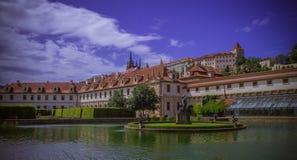 Señal de Praga del jardín del palacio de Wallenstein Imagen de archivo