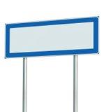 Señal de tráfico aislada, espacio vacío en blanco de la información de la copia del poste indicador para los iconos, pictogramas, Fotografía de archivo