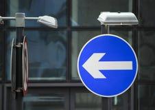 Señal de tráfico de camino Fotografía de archivo libre de regalías