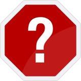 Señal de tráfico del signo de interrogación Foto de archivo