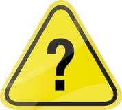 Señal de tráfico del signo de interrogación  Imagen de archivo