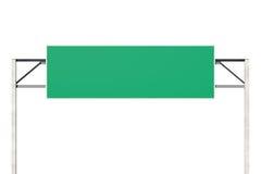 Señal de tráfico en blanco grande Imágenes de archivo libres de regalías