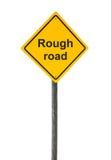 Señal de tráfico áspera. Imagenes de archivo