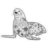 Seal  doodle Royalty Free Stock Photography