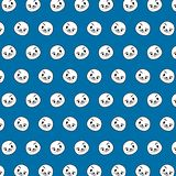 Seal - emoji pattern 20. Pattern of a emoji seal that can be used as a background, texture, prints or something else vector illustration