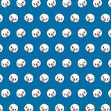 Seal - emoji pattern 43. Pattern of a emoji seal that can be used as a background, texture, prints or something else vector illustration