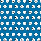 Seal - emoji pattern 44. Pattern of a emoji seal that can be used as a background, texture, prints or something else stock illustration