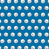 Seal - emoji pattern 16. Pattern of a emoji seal that can be used as a background, texture, prints or something else vector illustration