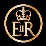 Elizabeth`s Reign Emblem. The seal found on several of Englands gates in London vector illustration
