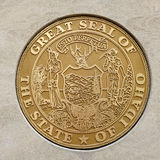 Seal of the Great State of Idaho. Golden stars state Royalty Free Stock Photography