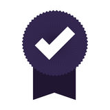 Seal of guarantee with approval symbol Royalty Free Stock Photos
