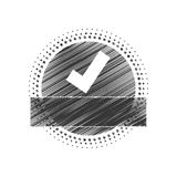 Seal of guarantee with approval symbol Royalty Free Stock Image