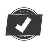 Seal of guarantee with approval symbol Royalty Free Stock Photography