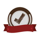 Seal of guarantee with approval symbol Stock Images