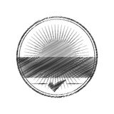 Seal of guarantee with approval symbol Royalty Free Stock Photo
