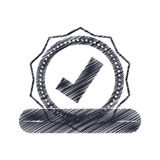 Seal of guarantee with approval symbol Stock Photography