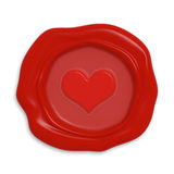 Seal with heart Stock Photo