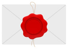 A seal on a letter Royalty Free Stock Photo
