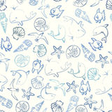 Seal life seamless pattern Stock Photo