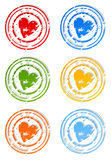 Seal of love2. Set of icons a stamp heart. A vector illustration Stock Images