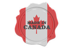 Seal Made in Canada. 3D rendering Stock Photo