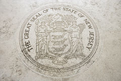 Seal of New Jersey in Fort Bonifacio, Manila, Philippines Royalty Free Stock Photos