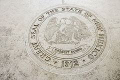 Seal of New Mexico in Fort Bonifacio, Manila, Philippines Royalty Free Stock Photos