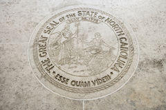 Seal of North Carolina in Fort Bonifacio, Manila, Philippines Stock Photos