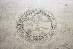 Seal of North Dakota in Fort Bonifacio, Manila, Philippines Royalty Free Stock Photography