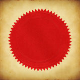 Seal on Old Paper. Blank red seal on old grunge paper stock illustration