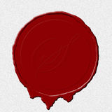 Seal paper. A wax seal image on white scroll paper Stock Images