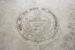 Seal of Pennsylvania in Fort Bonifacio, Manila, Philippines Stock Photos