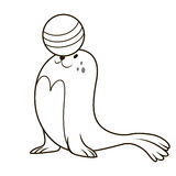 Seal playing with a ball Royalty Free Stock Images