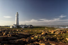 Seal Point Lighthouse in Cape St. Francis, South Africa. Evening light at the Seal Point Lighthouse in Cape St. Francis at the Garden Route, South Africa Stock Images
