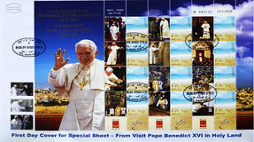 Seal of Pope Benedict XVI in the Holy Land Stock Photo