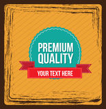 Seal Premium. Over vintage background vector illustration Stock Photo