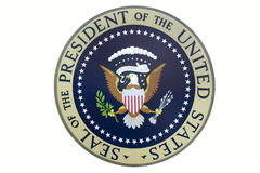 Seal of the President of the United States. On display at the Ronald Reagan Presidential Library and Museum, Simi Valley, CA stock photos