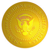 Seal of the president of US Royalty Free Stock Photography