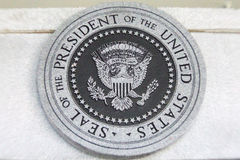 Seal of the president of the USA. Seal of the president of the United States of America at Jimmy Carter Center, Atlanta, Georgia Stock Image