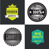 Seal quality. Over white and black background vector illustration Royalty Free Stock Photos