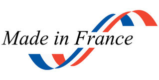 seal of quality MADE IN FRANCE Royalty Free Stock Images