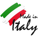 seal of quality Made in Italy Stock Image