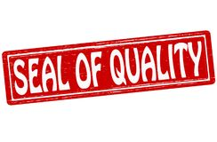 Seal of quality. Stamp with text seal of quality inside,  illustration Royalty Free Stock Images