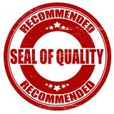 Seal of quality. Stamp with text seal of quality inside, illustration Stock Photo